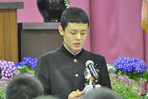 思い出を胸に~町立中学校卒業式~